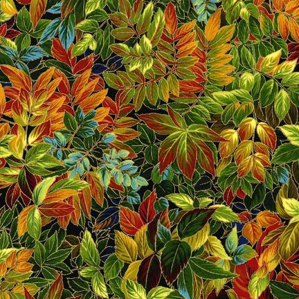 Robert Kaufman Fabrics: ESKM-6641-191 AUTMN from Nature's Brilliance 4