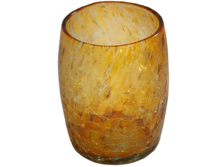 verre a eau ou a whisky orange en verre souffle 2