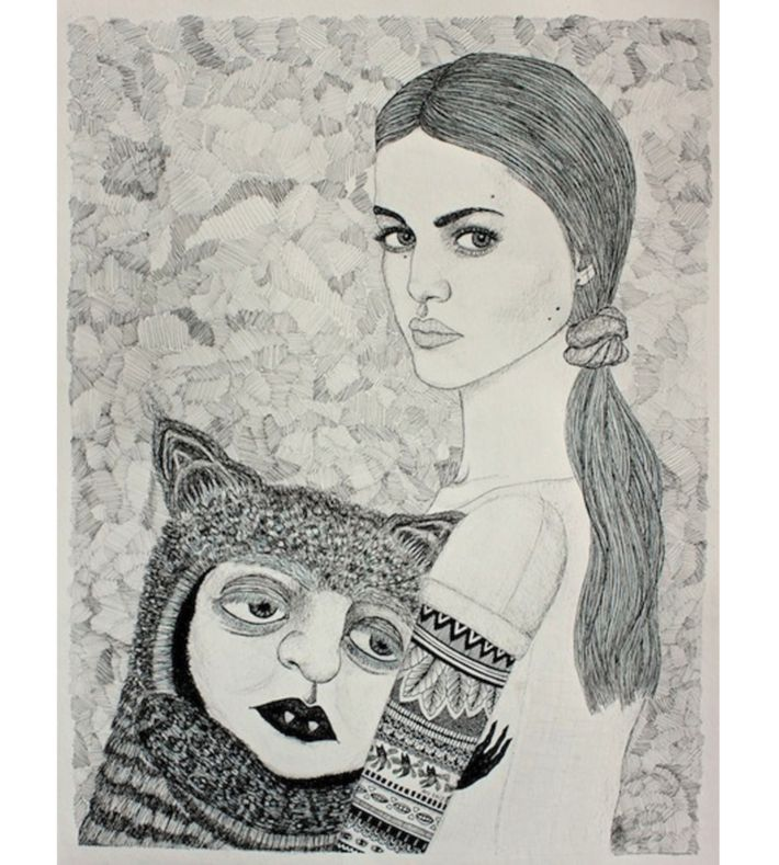 """Tilsammen"" 2013. Original illustraion by ANJA VILLUMSEN OXAGER on watercolour paper. Size: 65x50 cm. You can buy this original piece at www.artrebels.com #artrebels #art #originals"
