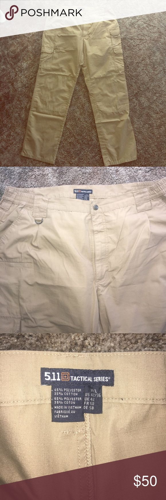511 Tactical pants Men's 5.11 tactical pants. Khaki color, size 42/36, worn once, were too big. No flaws, great condition! 5.11 Tactical Pants