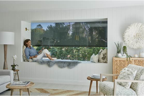 INSIDE - Luxaflex® Evo STC Awnings  Keep your room cool and enjoy UV protection whilst maintaining your view with externally fitted Evo Awnings. They can even help you reduce your energy costs  by up to 60%.