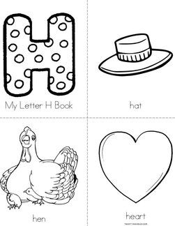 Lots of printables- My Letter H Mini Book