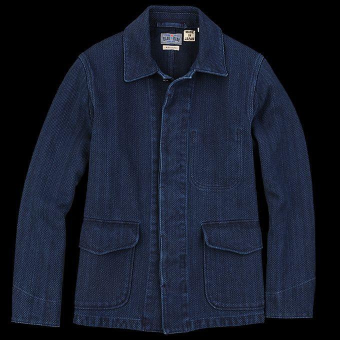 BLUE BLUE JAPAN - Sashiko Jacket in Pure Indigo (Made in ...