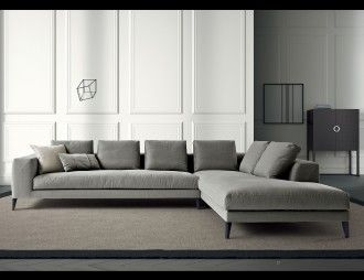 Nella Vetrina Lusso Hamptons Luxury Italian Modular Sofa Upholstered In  Dark Grey