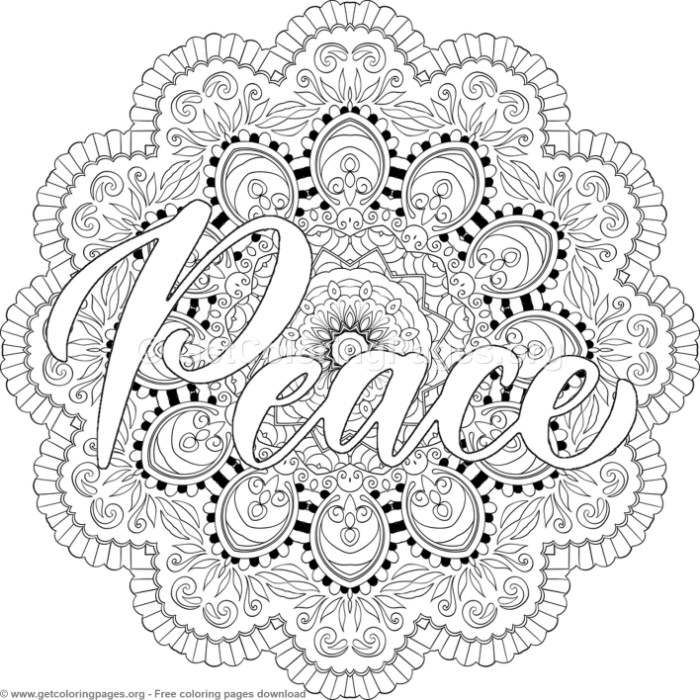 Peace Mandala Coloring Pages Getcoloringpages Org Coloring Coloringbook Coloringpages Quotes Mandala Coloring Pages Coloring Pages Mandala Coloring