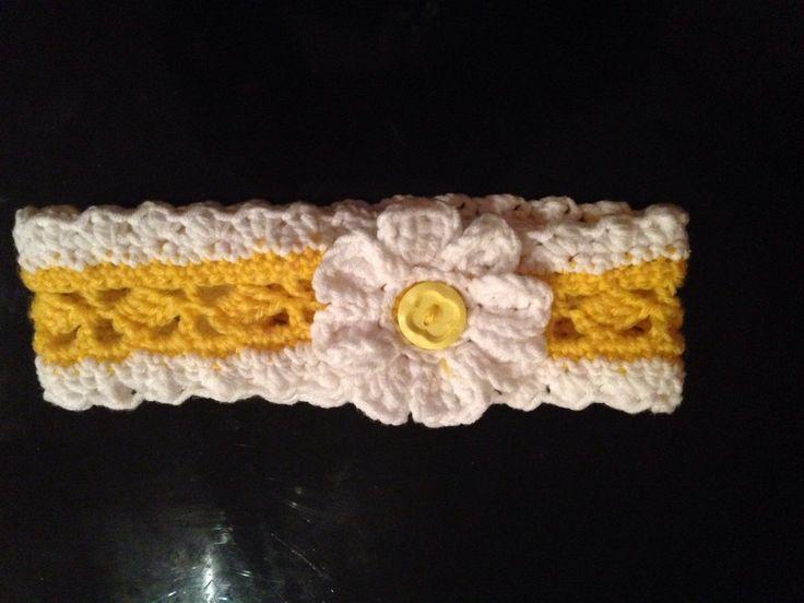A personal favourite from my Etsy shop https://www.etsy.com/au/listing/214771599/summer-daisy-crochet-headband