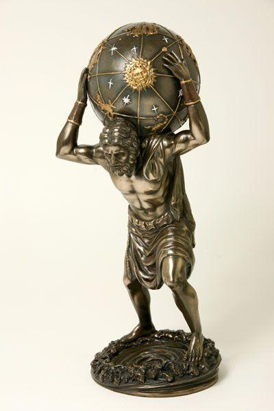 Atlas, drager van aarde<br /> en hemelgewelf bij Crystal Temptation in Venlo