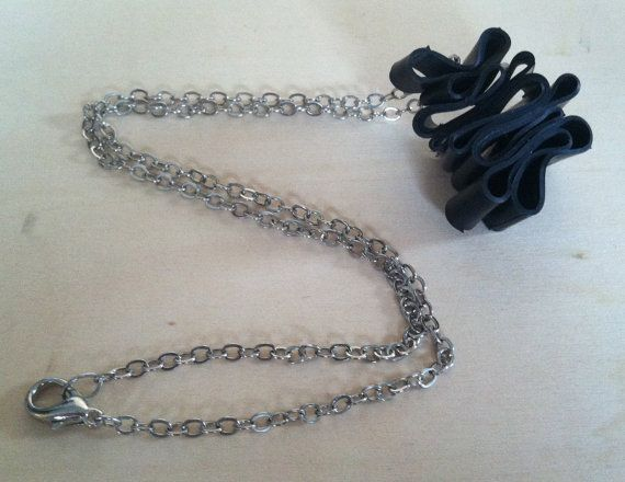 Reclaimed+Rubber+Inner+Tube+Necklace+by+Traashart+on+Etsy,+$20.00