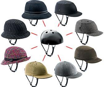 Fietshelmen vermomd als baseball cap of ander hoedje, van Yakkay