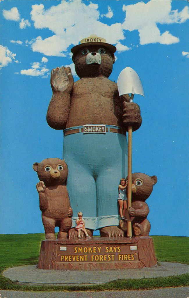 Smoket Bear Statue, 26 Feet Tall, Erected at International Falls, Minn. | Flickr - Photo Sharing!