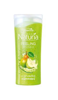 Peeling myjący do ciała z gruszką Naturia body. Skóra jest odświeżona i oczyszczona, gładka i miła w dotyku oraz przyjemnie pachnąca.