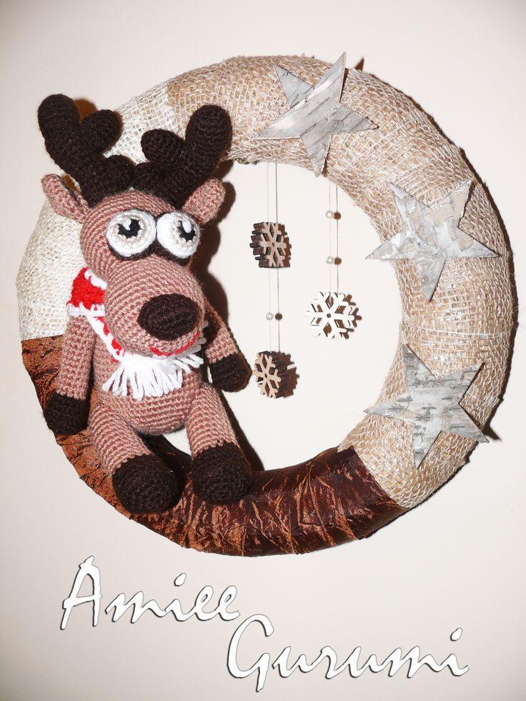 Karácsonyi ajtódísz / Crochet Wreath Xmas