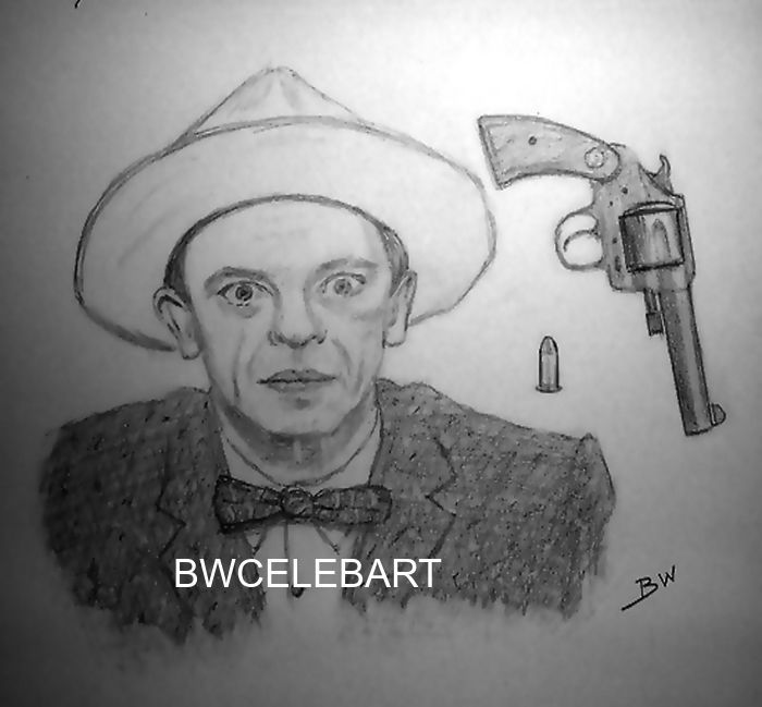 THE ANDY GRIFFITH SHOW  DRAWING SHERIFF BERNARD P FIFE DON KNOTTS DEPUTY SHERIFF #Realism