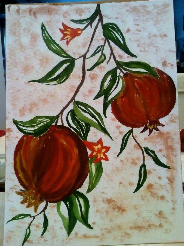 Painting pomegranates