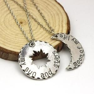 Free-Shipping-His-Hers-Khal-Khaleesi-Necklace-Game-Of-Thrones-Necklace-Moon-Of-My-Life-My #gameofthrones