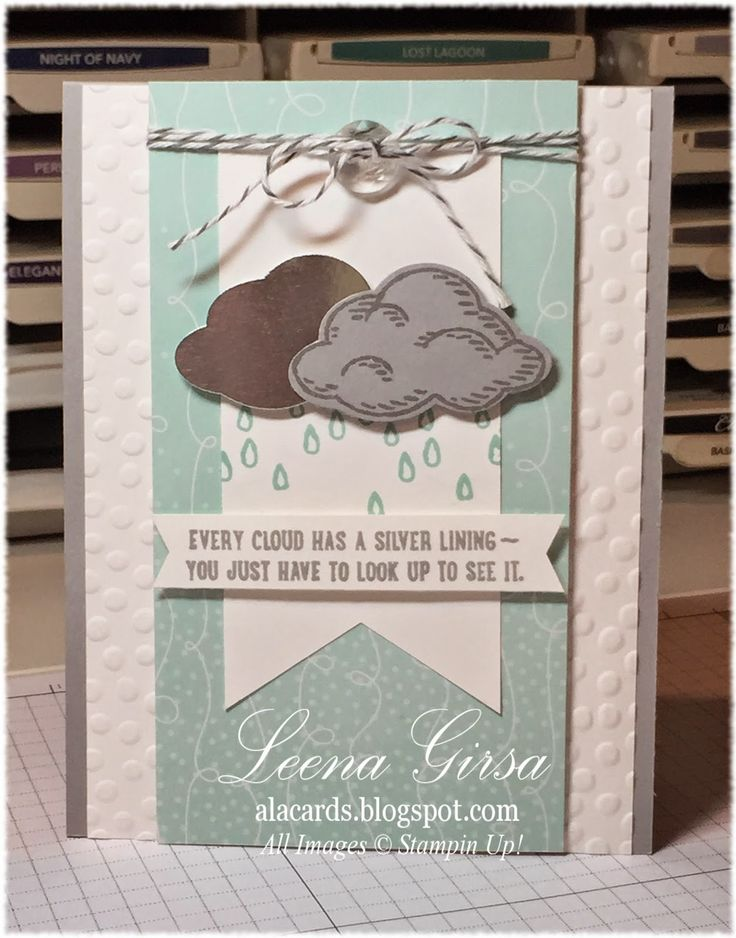 Tuesday, May 19, 2015 A La Cards: Silver Lining; Sprinkles of Life stamp set, Tree Builder punch, Cherry on Top dsp pack, Decorative Dots TIEF