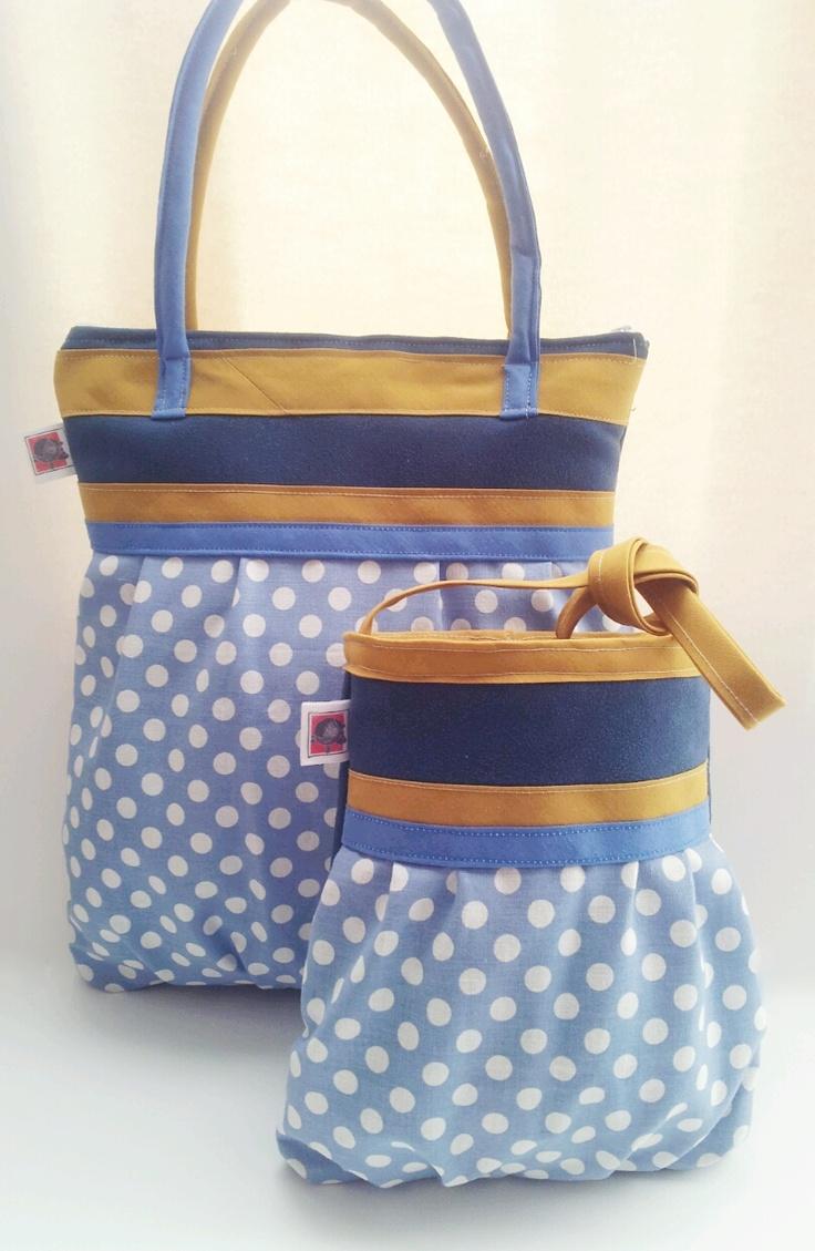 Conjunto, bolso de mujer y bolso de niña tresCandela