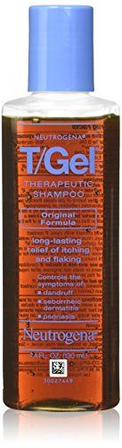 Neutrogena T/Gel Therapeutic Shampoo Original Formula, Dandruff Treatment, 4.4 Fl. Oz.  4.4-fluid ounce bottle of shampoo  Cleanses and helps relieve scalp itching and flaking  Controls symptoms of dandruff, seborrheic dermatitis, psoriasis  Formulated for daily use  Scientifically proven to work for hours