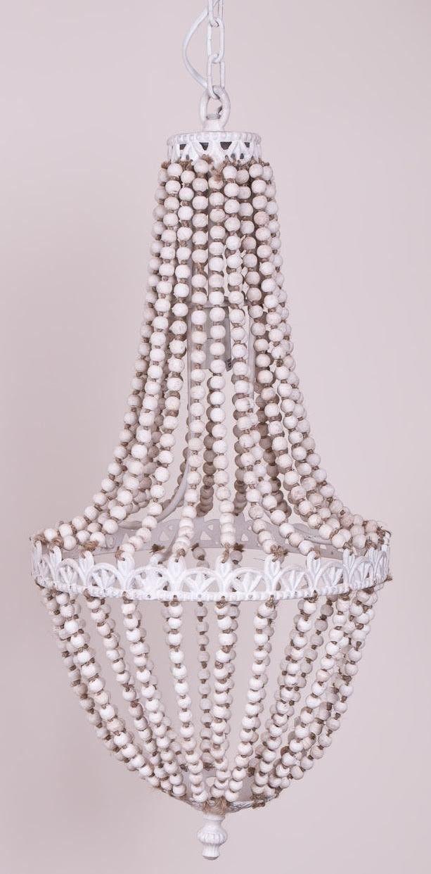 Żyrandol Beads biały