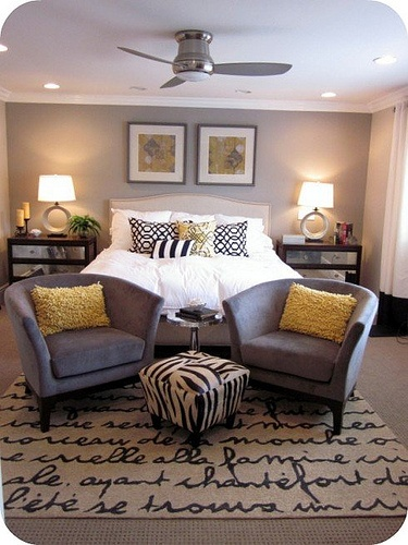 hummm i could do this too. same layout as my bedroom with almost the same bed
