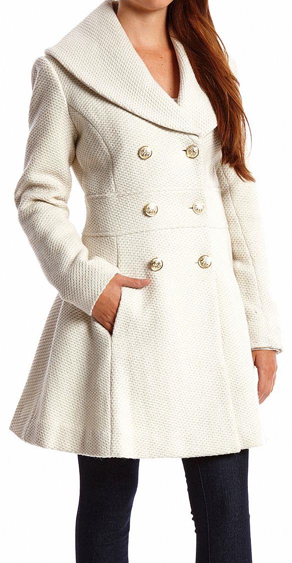 White shawl coat