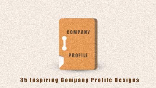 Inspiring Company Profile Designs