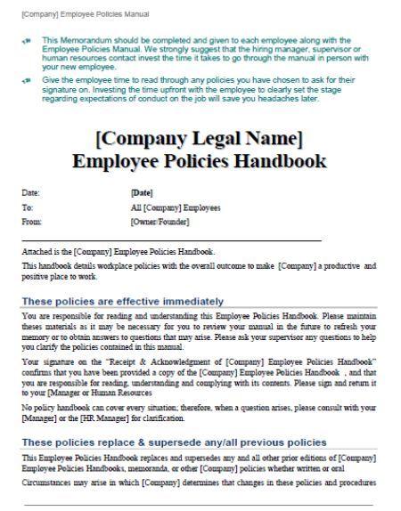 Employee Handbook Templates Detailed Guide on Employee Handbook (40