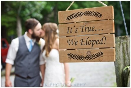 They eloped at Gatlinburg's Bluff Mountain Inn. Click here for more from http://bluffmountaininn.com