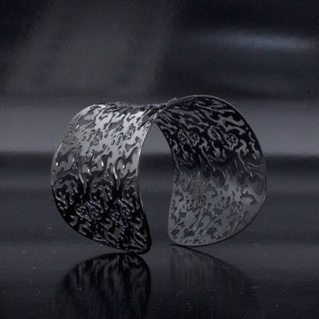 Stainless Steel Cuff Black by Steeltime on Fab.com: Cuffs Black, Fab Com, Steel Cuffs, Jewerly Handmade, Online Shops, Stainless Steel