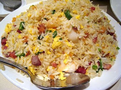 Fried Rice  - 400 g Rice of your choice  - 1000 g Water  - 800 g Mixed Frozen Veggies (Corn, Peas and Carrots)  - 100 g Mushrooms  - 6 rashers Bacon  - 1 large Onion  - 1 Garlic clove  - 2 Eggs (light beaten with fork)  - 20 g Oil  - Soy Sauce  - Salt and Pepper  - tinned or fresh Bamboo sprouts