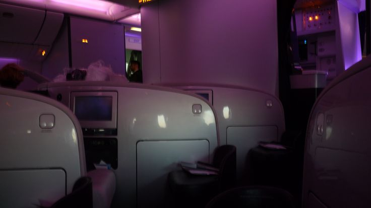 Business Premier cabin on Air New Zealand Boeing 777-300ER from seat 2K LHR-LAX, 11/12/2012