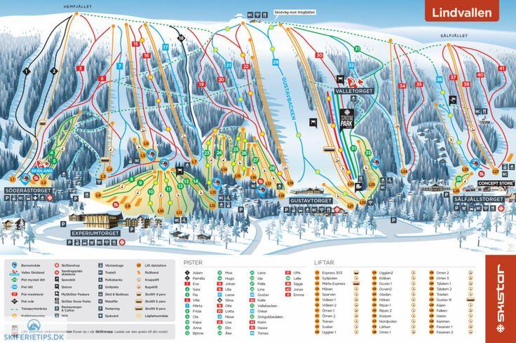 Sälen Lindvallen Piste Map (High resolution / .JPEG) #skiing #skistar #lindvallen #sälen #sweden