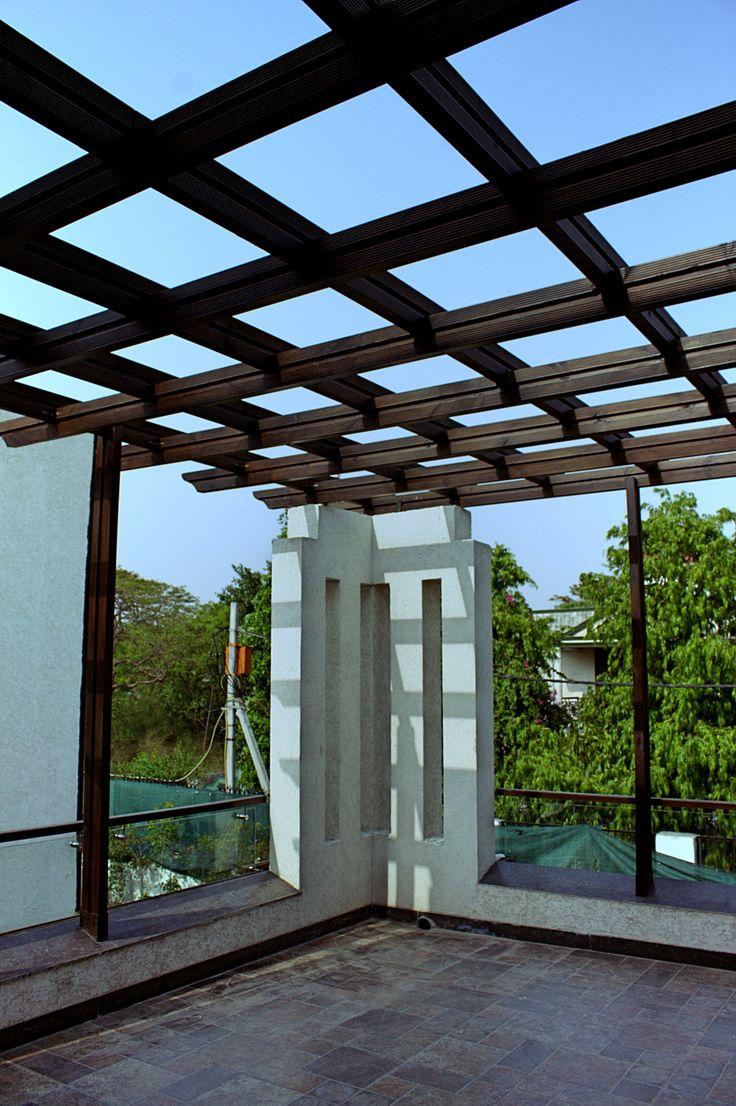 Pergolas sit outs terrace wooden pergola designs for Terrace pergola