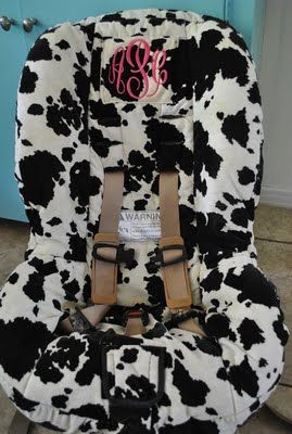 cow print and monogram... love it