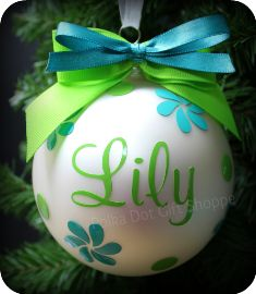 I will be making one for each of the kids this year (: Petals and Polka Dots Monogrammed Ornament