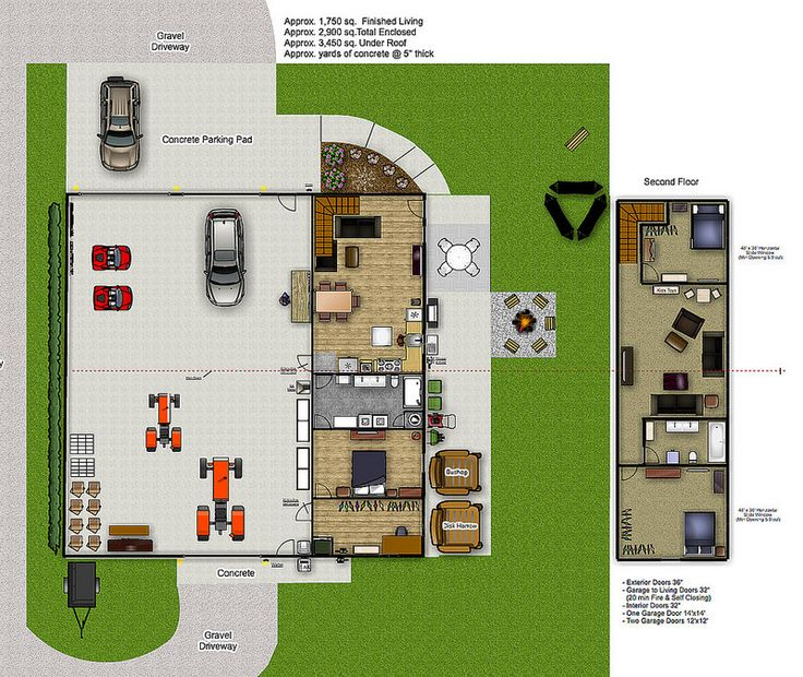 Garage with living quarters floor plans gurus floor Garage with living quarters floor plans