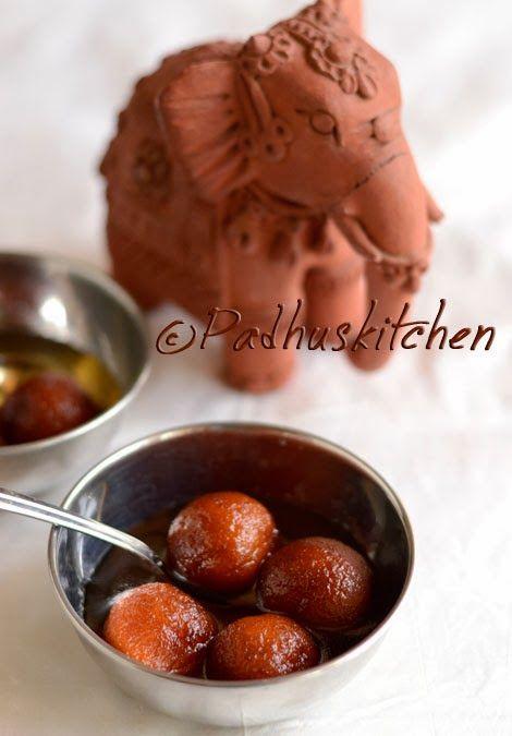 Easy Gulab Jamun Recipe-Bread Gulab Jamun-Diwali Sweets Recipes   Padhuskitchen
