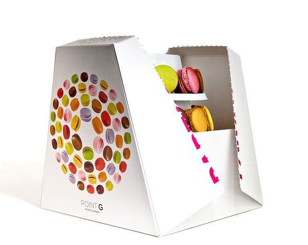 beautiful macaron packaging opens to reveal shelves