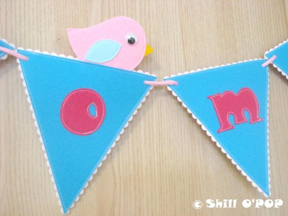 Welcome Banner Felt Garland PDF Pattern Back To by ShillOPOP