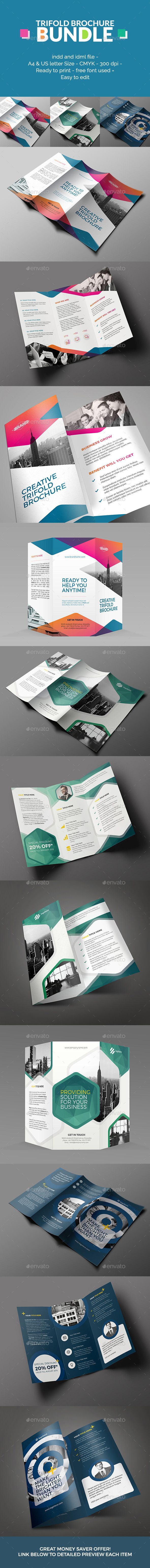 Trifold Brochure Bundle Template #design Download…