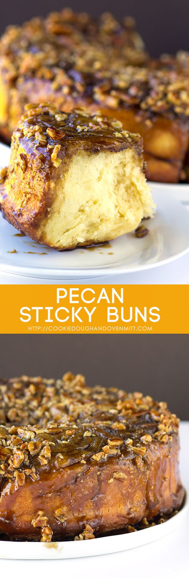 Buttery pecan sticky buns loaded with a cinnamon sugar filling and topped with a caramel sauce and pecans, does this sound like a breakfast that you need?