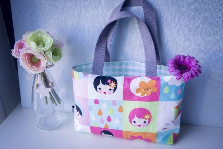 Tuto couture : Le petit sac cabas filette