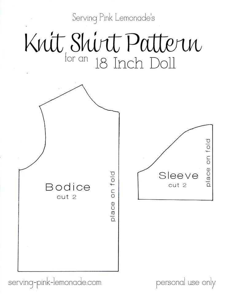 Serving Pink Lemonade: How to Sew a Shirt for an 18 Inch Doll - Free Pattern Included