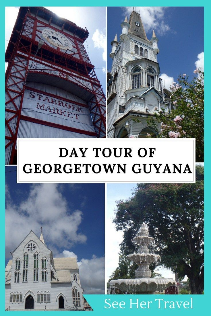A day in Georgetown Guyana is the perfect time to explore the cities many things to do! Museums, gardens, markets, and restaurants galore make for a great day in Guyana's capital town