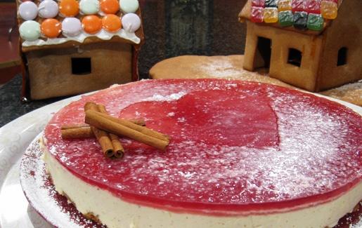 Jouluinen glögi-juustokakku. Copyright: MTV Oy