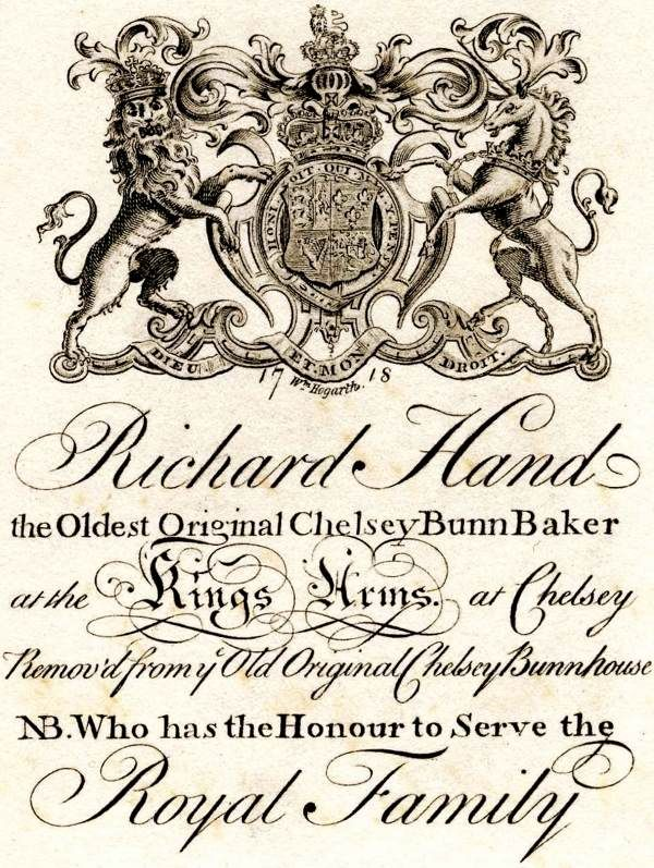 288 best georgian england 1700 1830 images on pinterest century trade card richard hand the oldest original chelsey bunn baker at the kings arms at chelsey removd from the old original chelsey bunnhouse nb reheart Images