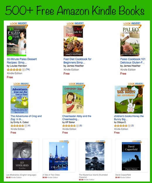 Free Kindle Books - Big List of Free Amazon Kindle Books.  Over 500 Free Books!