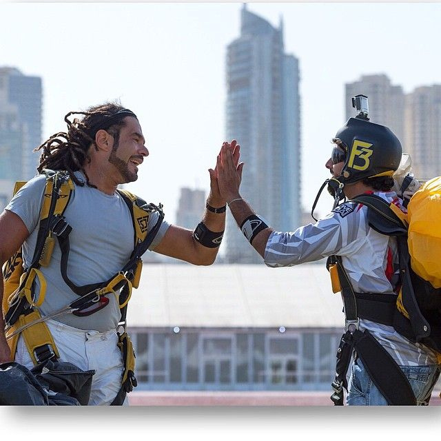 11/8/14 Skydiving with Faz3 and friends at Skydive Dubai PHOTO: ali_essa1___Faz3 and Marat Leiras