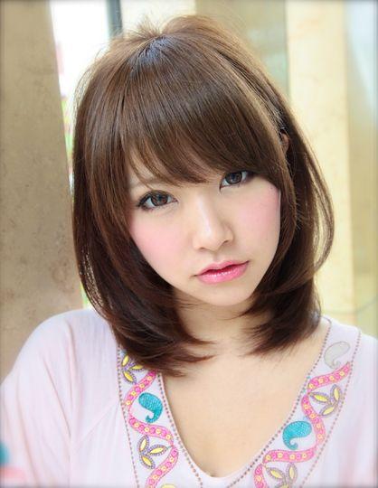 AFLOAT Xel-Haのヘアスタイル | 艶髪耳掛けミディアム | 東京都・青山・表参道の美容室 | Rasysa(らしさ)