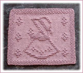 Little Garden Girl Free Knit Dishcloth Pattern